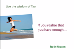 lao tzu tao te ching 33 knowing enough