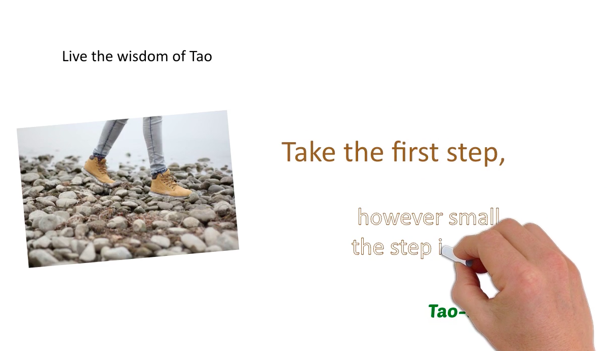 Take the first step, however small the step is